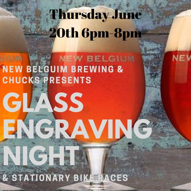Thursday June 20th Glass Engraving Event