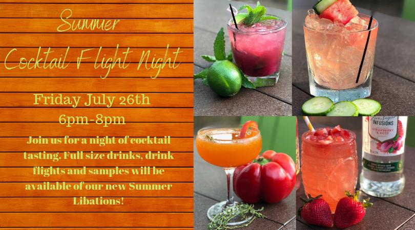 Summer Cocktail Flight Night
