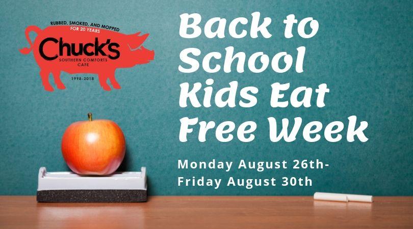 Back to School Kids Eat Free Week