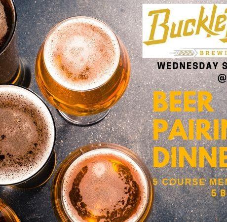 BuckleDown Brewing Beer Pairing Dinner