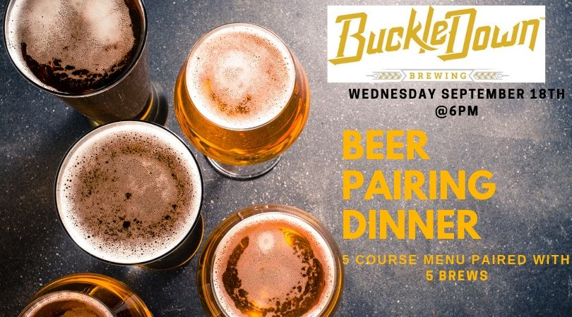 BuckleDown Brewing Beer Pairing Dinner